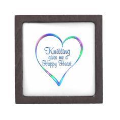 #Knitting Happy Heart Gift Box - #knitting #gifts