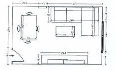 Posición de una chaise longue en un salón rectangular Living Pequeños, Living Room, Salons, Sweet Home, Floor Plans, Interior, Home Decor, Paint, Google