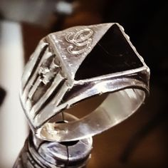#Anello #uomo #argento #artigianale #Croce #ancora #iniziale #man #ring #silver #handmade #jewels #goldsmith #artistic #fashion #Cross