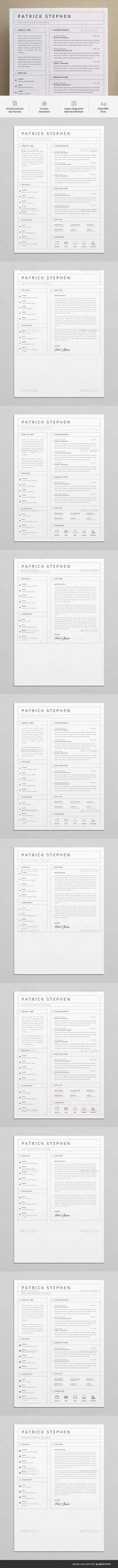 #Resume - Resumes #Stationery Download here: https://graphicriver.net/item/resume/19328606?ref=alena994