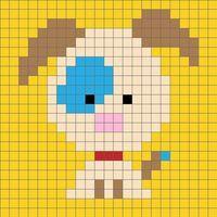 Zoodiacs Dog C2C Crochet Graph - One Dog Woof