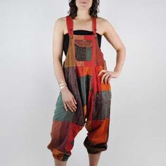 Nepali Patchwork Overalls