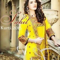 Sahil Winter Kurti Collection 2015-16 By Shariq Textile