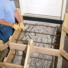 How to Pour Concrete Steps - DIY Gartengestaltung