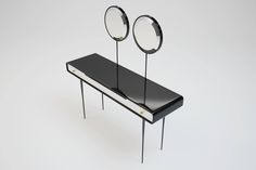 ALIEN Console by Ekaterina Elizarova #beautytable #console #mirror #beauty #wood #steel #chrome #black #blackandwhite #furnishing #apartment #unique #design #furniture #ekaterinaelizarova #elizarova #limited #edition #madeinitaly #handcrafted #elizarovadesign #limitededition #art #modernart #collection #luxury #luxuryfurniture #luxuryliving #luxurydesign