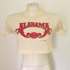 Vintage 80s Alabama Band Half Cropped T Shirt   | eBay