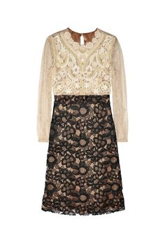VALENTINO Embellished lace dress £819   #VALENTINO #DRESS #LACE #SILK