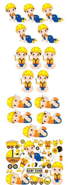 Eps Vector, Vector File, Construction Design, Baby Boy, Clip Art, Boys, Baby Boys, Children, Senior Guys