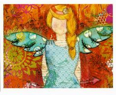 Angel Postcards 4 of original art. by 3Heartwings on Etsy, $5.00