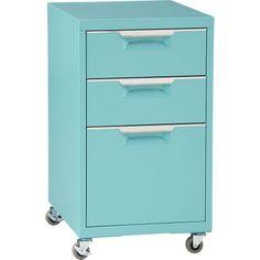TPS aqua file cabinet in office furniture   CB2