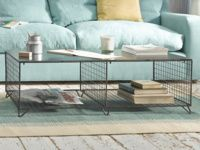 Industrial metal Smithers Major coffee table with storage