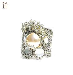 Vintage Rhinestone and Pearl Wedding Cuff Bracelet - Wedding bracelets (*Amazon Partner-Link)