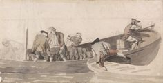 "Samuel Scott - ""Men Loading a Boat with Barrels"""