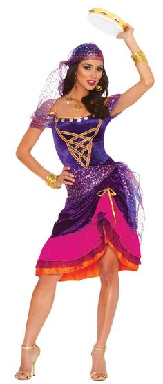 gypsy Costumes for Women | Home >> Gypsy Costumes >> Sexy Mystical Gypsy Costume