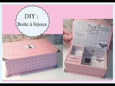 Tuto : Fabriquer une boîte à bijouxcompartimentée en carton.