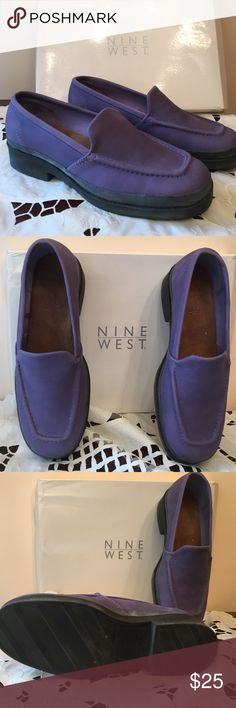 Lavender loafers Nine West lavender loafers brand new with leather uppers. Nine West Shoes Flats & Loafers