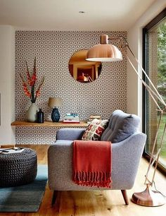 10 Superb Accent Chairs For Small Living Rooms accent chairs 10 Superb Accent Chairs For Small Living Rooms copper living room large floor lamp Home Living Room, Living Room Designs, Living Room Decor, Bedroom Decor, Bedroom Alcove, Scandi Living Room, Feature Wall Living Room, Nordic Living, Barn Living