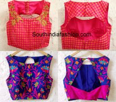 Indian blouse boat neck designs patterns - Deming Сlick here pictures Blouse Back Neck Designs, Choli Designs, Fancy Blouse Designs, Stylish Blouse Design, Indian Blouse, Blouse Styles, Mode Inspiration, South India, India Fashion
