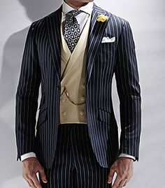 Wool Rope Stripe Phillip Suit by Phineas Cole - Pinned from iCatalog™