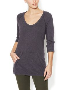 JAMES PERSE - French Terry Scoopneck Tunic