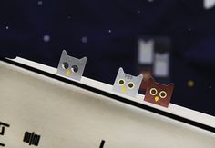 Sticky Note  Owl  / Note pad / Memo pad / Bookmark / by DubuDumo