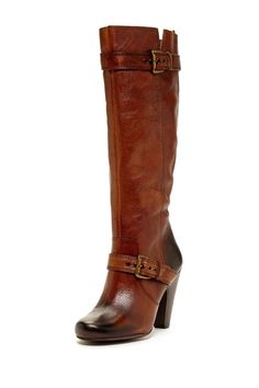 Adorable women's dark brown vintage leather tall knee high riding boots with buckles, stacked heel, and pointed toe! Perfect for fall, winter, and spring 2013 - 2014 with jeans, skirt, or dress ♥ Get this look at @SPARKTREND for $26, click the image to see! #boots #boot
