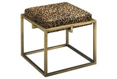 Shelby Stool, Leopard Leather