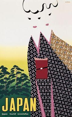 Hiroshi Ohchi #japan #poster #vintage  - for more inspiration visit http://pinterest.com/franpestel/boards/