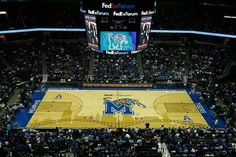 New Memphis Tigers basketball court at the FedEx Forum