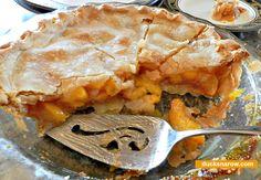 Delicious homemade peach pie with frozen peaches #bakingtips