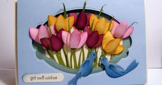 Valita's Designs & Fresh Folds: Simple punch art Tulips