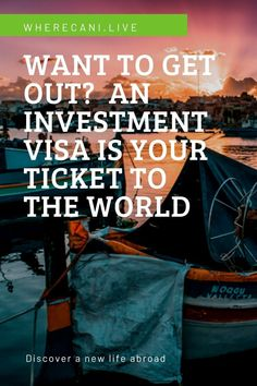 Want to get out?  An investment visa is your ticket to the world.  See more here. #investment #visa #world #travel #expat #liveabroad How Many Countries, Cool Countries, How To Know, How To Find Out, Getting A Passport, Living In Europe, Digital Nomad, Getting Out, New Life