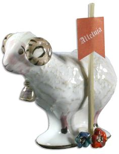 Majolica Lamb Triumphant ~ hand made in Slovakia