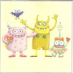 Three Friendly Ghouls