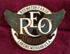 Today's addition to my radiator badge collection. REO was the initials of Ransom E. Olds, the founder of Oldsmobile (1901). Olds was forced out of Oldsmobile in 1904 and started a new company he planned to call the R.E.Olds Motor Car Company. When threatened with a law suit, he decided to use his initials for the new car company. REO made cars from 1905-1954 and trucks until 1975. One of its most famous car models was the REO Speed Wagon (name later taken by the rock group).