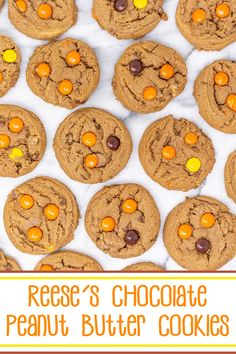 Reese's Chocolate Peanut Butter Cookies #Choctoberfest - soft and chewy #chocolate #peanutbutter #cookies loaded with #reesespieces, #reesespeanutbuttercups, and #chocolatechips. #choctoberfest2019 #peanutbuttercookies #chocolatecookies #reeses Peanut Butter Truffles, Chocolate Peanut Butter Cookies, Peanut Butter Bars, Peanut Butter Recipes, Chocolate Desserts, Best Dessert Recipes, Delicious Desserts, Baking Recipes, Food