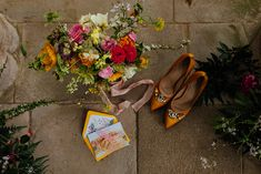 Yellow themed springtime styled shoot at the Victorian Greenhouse, Culzean Castle - Scottish Wedding
