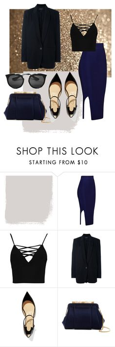 """сапфир"" by alena-bobrova on Polyvore featuring мода, Boohoo, Isabel Marant, Christian Louboutin, Oscar de la Renta и Prada"