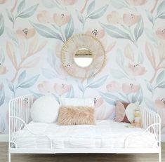 Orange Blossom Mural, Traditional Wallpaper