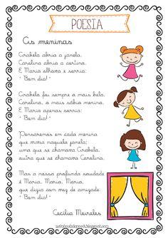 Notebook da Profª: Trabalhando com Poesia - As Meninas -2