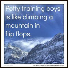 Potty training boys ...