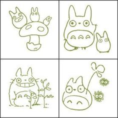 Studio Ghibli mi vecino Totoro diseño Mini por KawaiiCabochons
