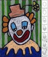 how to draw a clown for the Clown of God