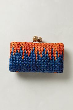 Mirrorball Straw Clutch - Anthropologie.com #knitting #inspiration