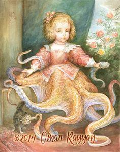 Young Ursula print by StudioRayyan on Etsy, $40.00
