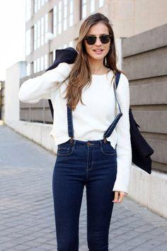 Minimal + Classic: denim with suspenders