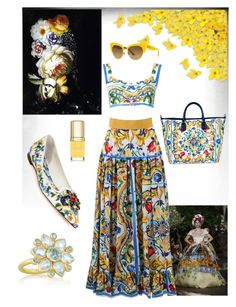 """Dolce and Gabbana"" by theserialnester ❤ liked on Polyvore featuring Dolce&Gabbana and MUNNU The Gem Palace"