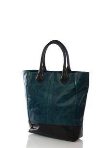 Shopper Bag Turquoise-Blackcen