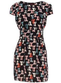 Cat print dress♥