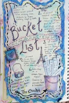 Creating a bucket list.......